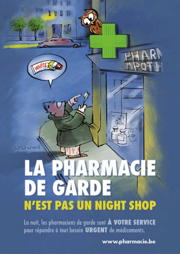 La pharmacie de garde n'est pas un night shop